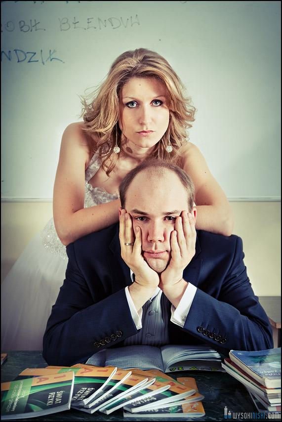 Zdjęcia ślubne w szkole