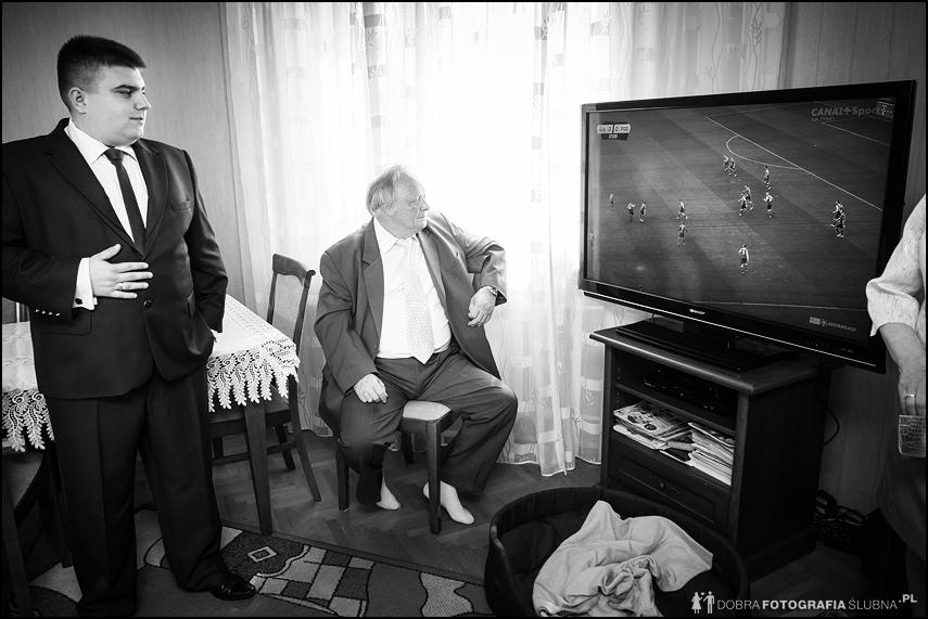 przygotowania do ślubu- oglądanie tv