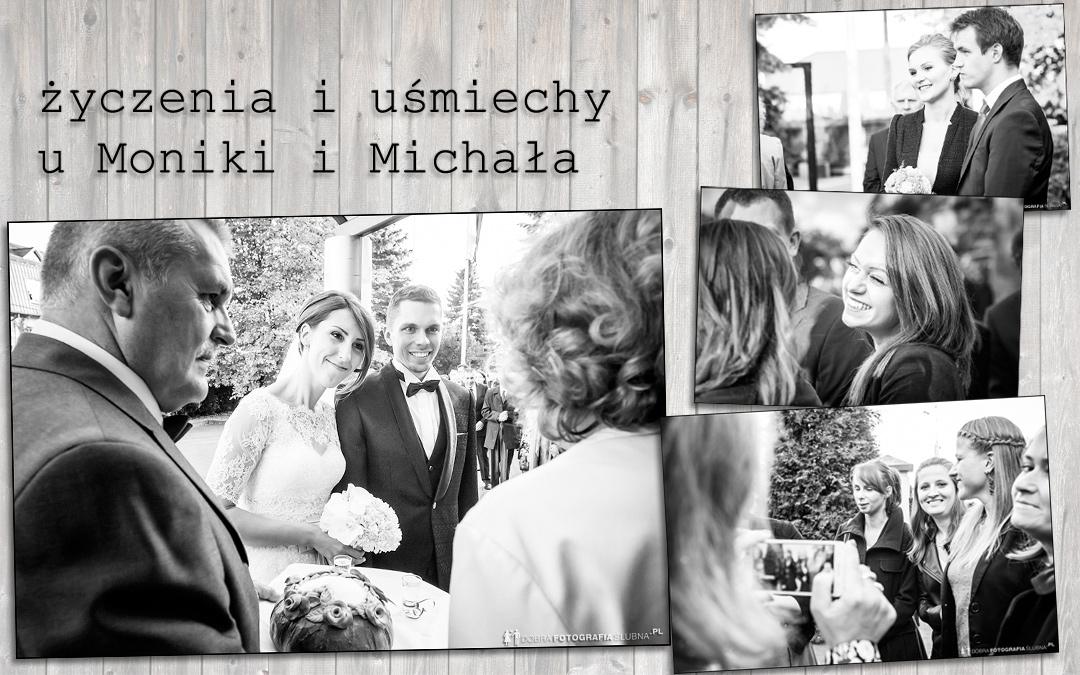 Życzenia i uśmiechy po ślubie Michała i Moniki