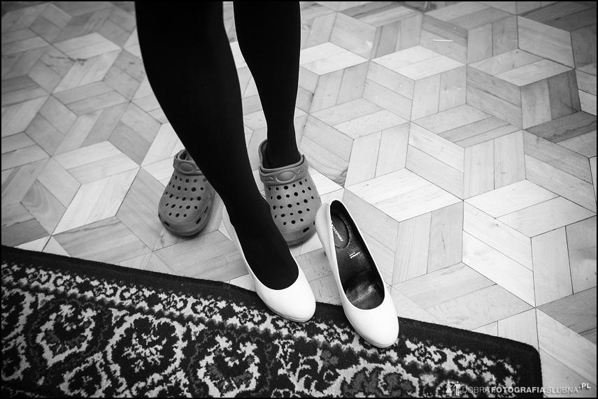 crocsy i pantofelki ślubne