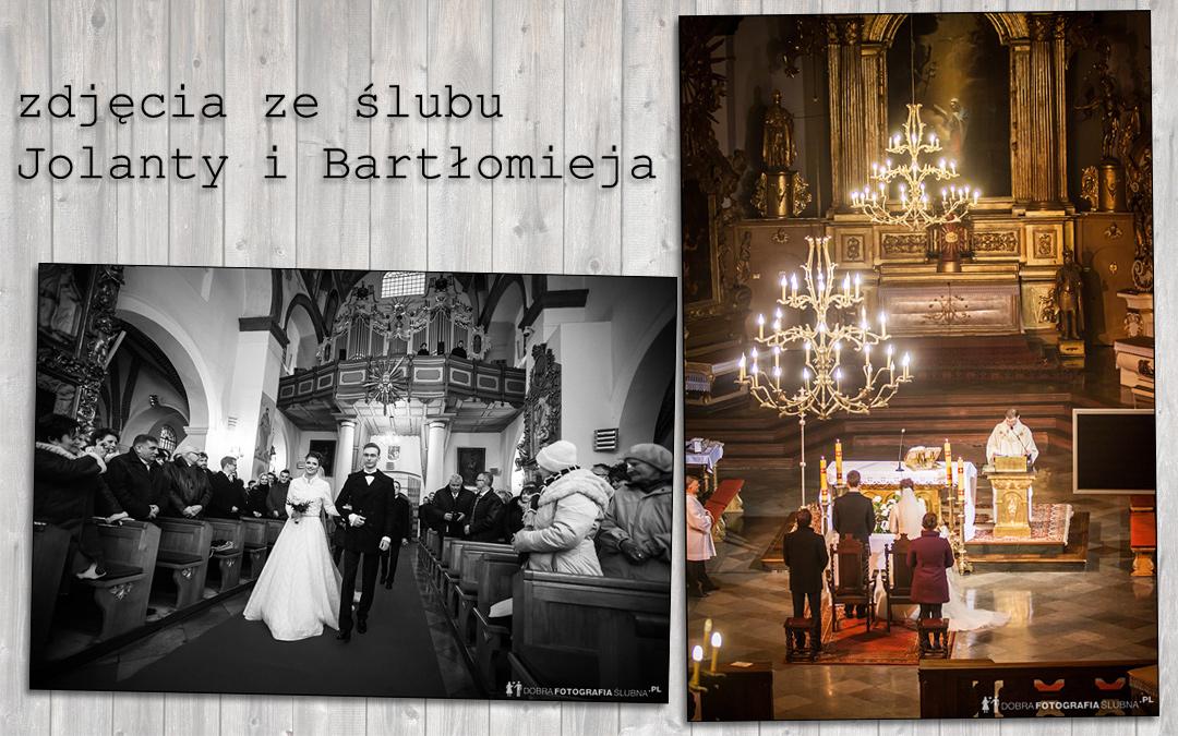 Zdjęcia ze ślubu Jolanty i Bartłomieja w zabytkowej Bazylice Zwiastowania NMP w Pułtusku