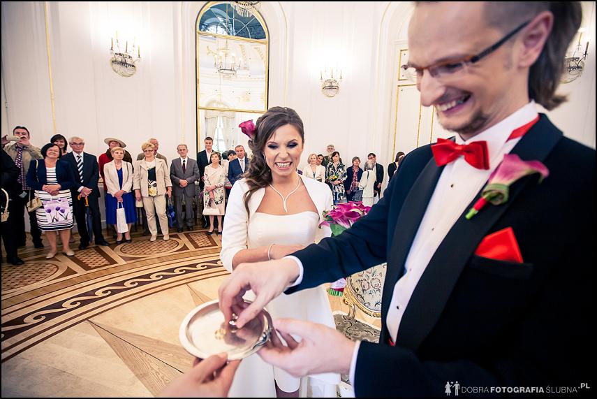 wymiana obrączek fotograf na ślub