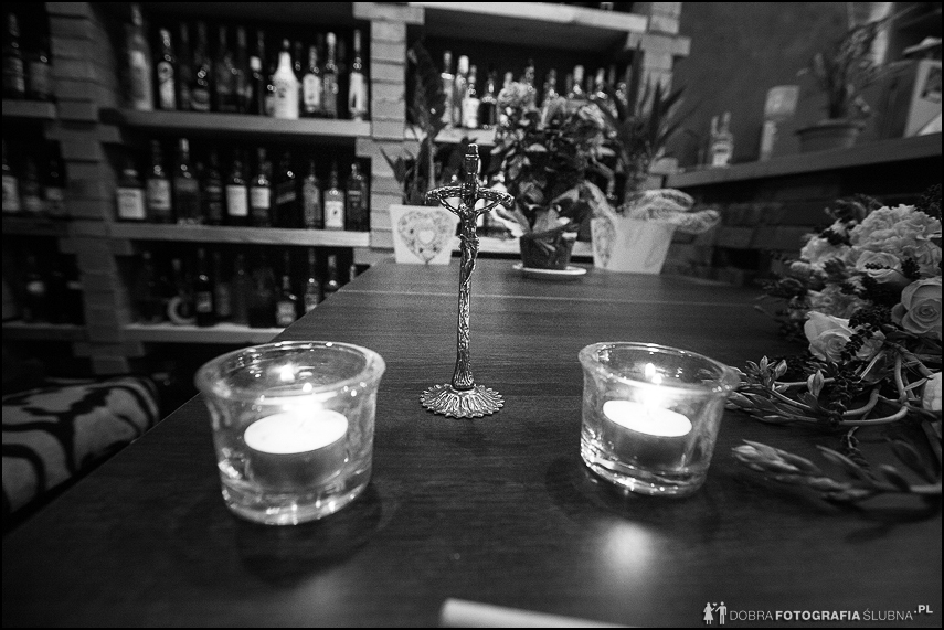 krucyfiks świece