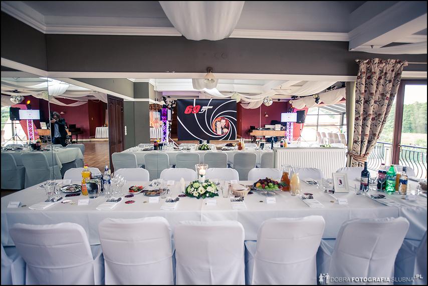 dekoracja sali weselnej James Bond