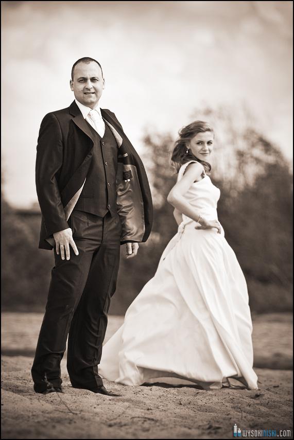 plener ślubny nad Wisłą w Warszawie