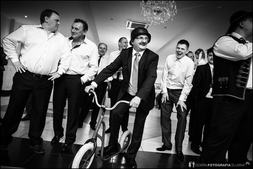teść na rowerze