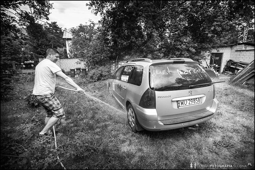 mycie samochodu przed ślubem