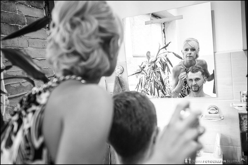 męska fryzura na ślub