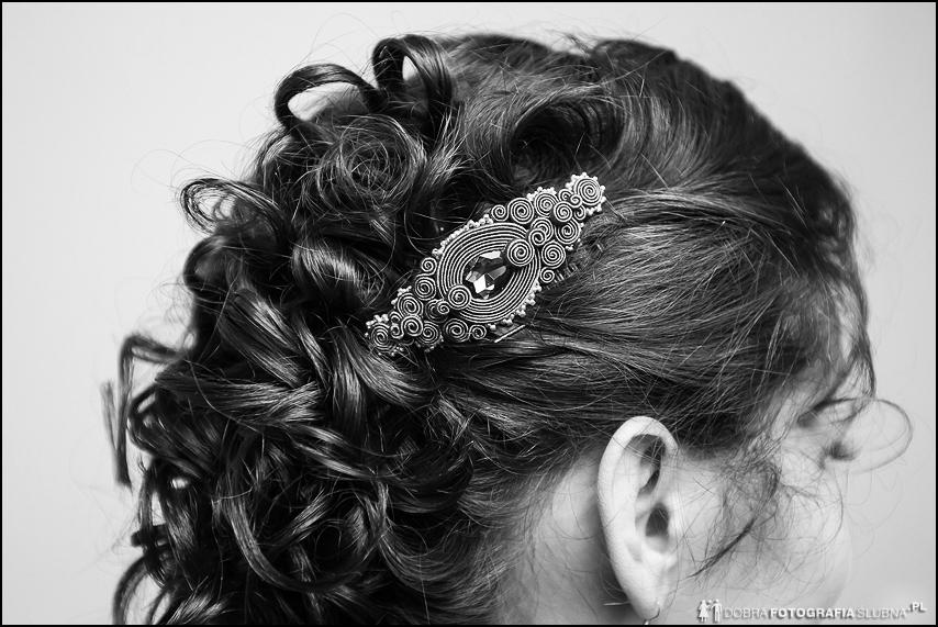 fryzura do ślubu fotografia